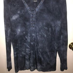 American Eagle Outfitters Tops - Blue ombré american eagle long sleeve